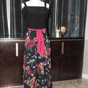 R&K MAXI FLORAL DRESS